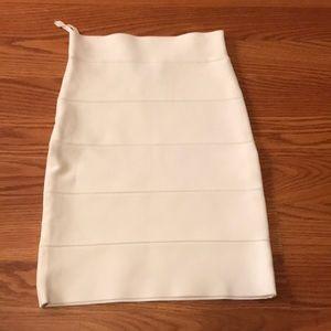 NEVER WORN bcbg white bandage pencil skirt